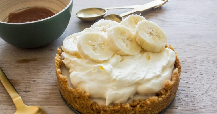 A vegan no bake banoffee pie