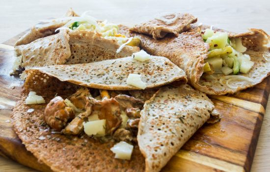Savoury pancakes with chanterelle