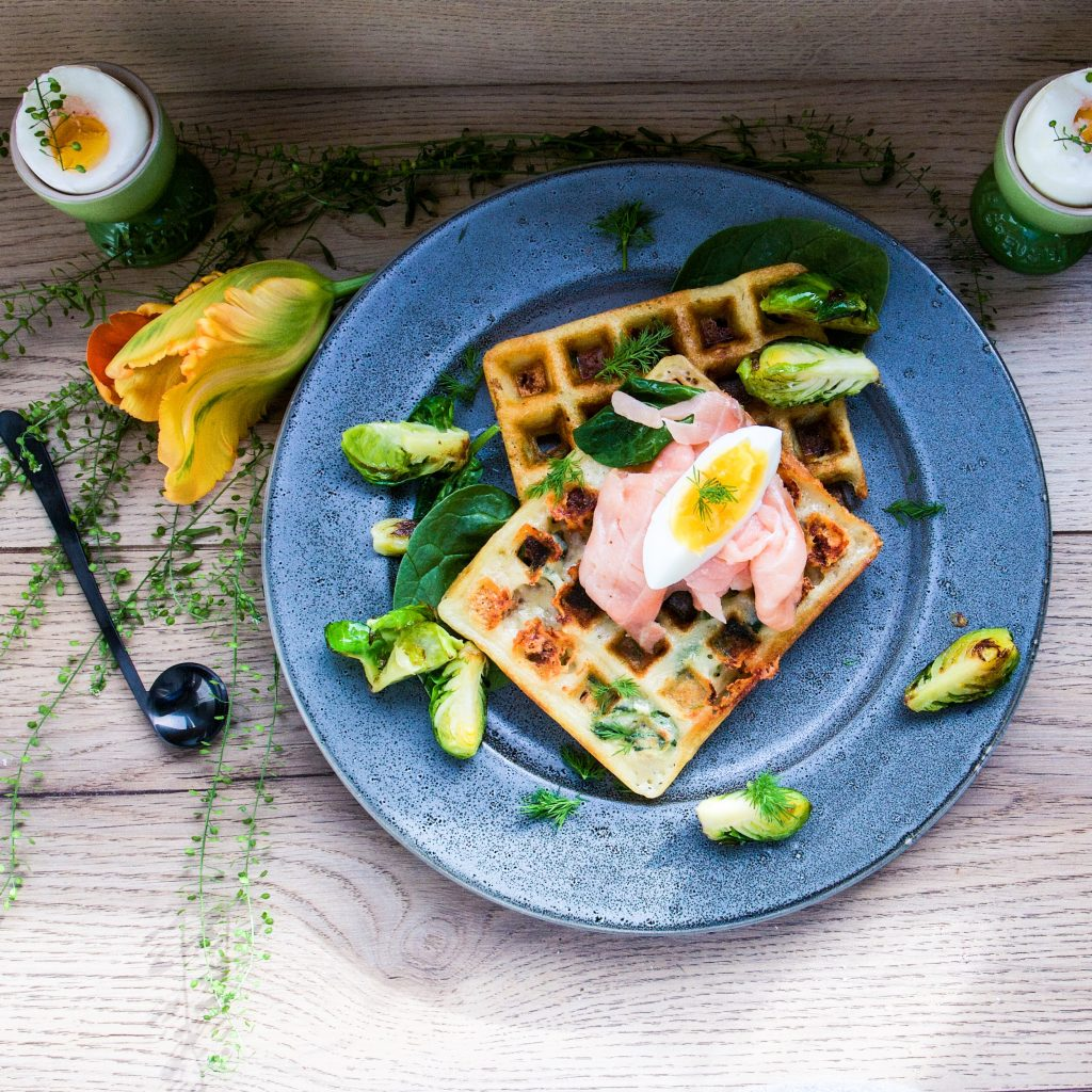 Easter waffles