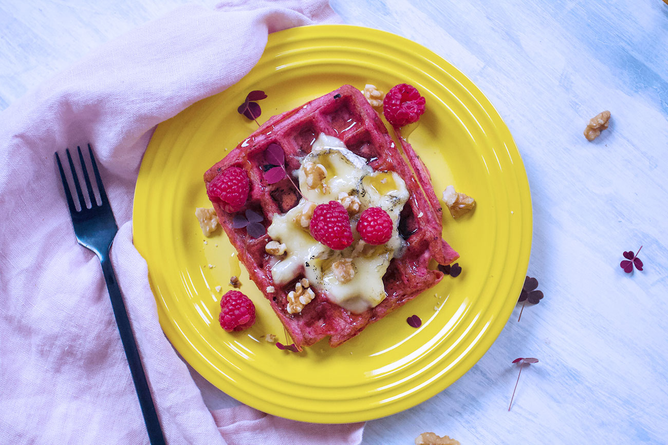 Beetroot waffle